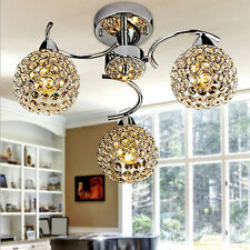 Elegant Ornate Crystal Ceiling Lighting Chandelier 3Lights Lamp Pendant Fixture