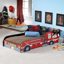 Rack Furniture Fire Truck Toddler Bed - Red