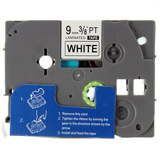 Black on White Label Tape Compatible for Brother TZ Tze 221 TZe221 P-Touch 9mm