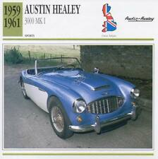 1959-1961 AUSTIN HEALEY 3000 Mk.I Sports Classic Car Photo/Info Maxi Card