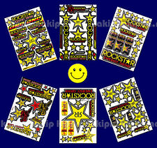 Set Rockstar Energy Stickers Motocross Bike Helmet Scooter Graphics Kits Decals