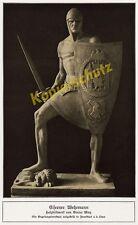 Bruno May Skulptur Eiserner Wehrmann Ritter Wappen-Schild Frankfurt Oder 1916!!!