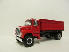 TOP SHELF 1/64 SCALE L9000 FORD GRAIN TRUCK / RED, RED BED  (SAME SCALE AS DCP)
