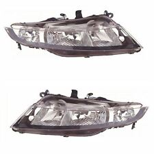 Honda Civic Mk8 3 & 5 Door Hatchback 2006-6/2012 Headlights Lamps Pair O/S & N/S