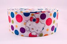 "3"" Wide Hello Kitty Polka Dots Printed on Grosgrain Cheer Bow Ribbon"