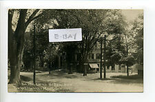 Medway MA Mass RPPC real photo 1910 street view, Bee Hive Grocery, signs