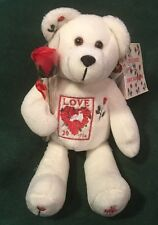 USPS Love Heart Valentine Postage Stamp Beanie Bear stuffed Timeless Toys 2003