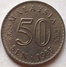 Malaysia 50 sen 1985 coin