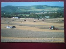 POSTCARD SUSSEX PLOUGHING MATCH BELOW MOUNT CABURN