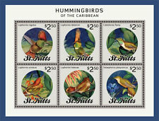 St Kitts - Hummingbirds of the Caribbean, 2014 - Sheetlet of 6 MNH
