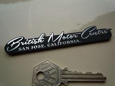BRITISH MOTOR CENTRE Dealers Self Adhesive Car Badge San Jose CA MG Jaguar Rover