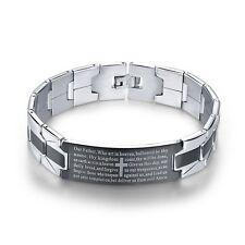 316L Stainless Steel Men's Jewelry Jesus Cross Design Wristband Bracelets