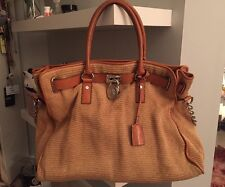 Michael Kors Hamilton Straw Medium Satchel Excellent gently used 927