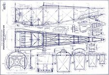 Nieuport 17 N-17 WWI Biplane Aircraft technical drawing plans disc archive