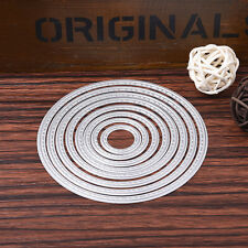 Oval 7x Set Metal Cutting Dies Stencil For Scrapbooking Paper Cards Decor