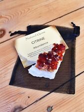 CITRINE CRYSTAL CLUSTER FENG SHUI WEALTH SUCCESS GEMSTONE NEW AGE REIKI GEODE