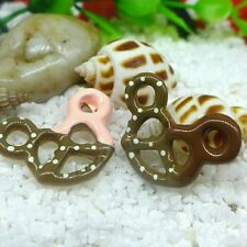 New 5pcs Kawaii Mouse Pretzel Food Snack Resin Flatback Cabochon Decoden DIY