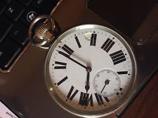 Antique rare Doxa Style Jumbo Giant  Extra Large Pocket Watch 75 mm Full Plate