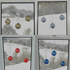 Bauble Window Stickers Clings Reusable Christmas Decorations Quick Simple Decal