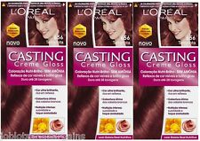 3 x LOreal Paris Casting Creme Gloss 656 Terracotta - Auburn Hair Colourant Dye