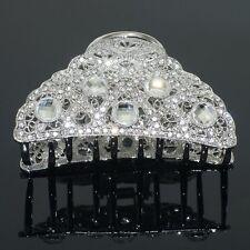 C66 Clear Austrian Rhinestone Crystal Hair Claw Clamp Clip Alloy Barrette