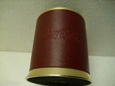 Vintage Coca Cola Solingen Metal Pencil Cup Gold & Red Lerche Made in Germany