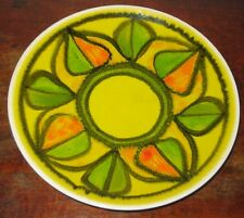 POOLE POTTERY GILLIAN TAYLOR 1971-2 DELPHIS PLATE YELLOW GREEN ORANGE