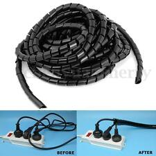 6M Flexible Spiral Wrap Cable Binding 10 TO 35MM Hide Tidy Wire Tube Protection