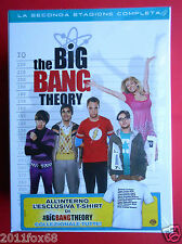 box set 4 dvd + t-shirt serie tv the big bang theory season 2 seconda stagione f