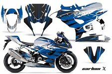 AMR Racing Graphic Kit Wrap Part Suzuki GSXR 1000 Street Bike 05-06 CARBON X BLU