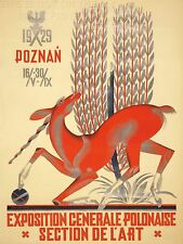 ART PRINT POSTER ADVERT EVENT POLISH NATIONAL EXPOSITION UNICORN WHEAT NOFL1634