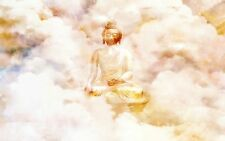 LARGE BUDDAH FLOATING IN THE CLOUDS WISDOM ENLIGHTENMENT ARTWORK PRINT POSTER