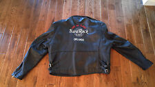 Hard Rock Cafe Black Genuine Leather Motorcycle Jacket Save The Planet Orlando L