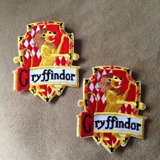 2 - Harry Potter Movie GRIFFINDOR House/Crest/Shield Iron-on Logo PATCHES Badge!