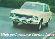 FORD CORTINA LOTUS MK2 1967-68 UK marché foldout la brochure commerciale