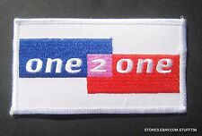 ONE 2 ONE EMBROIDERED SEW ON PATCH ADVERTISING HAT BADGE UNIFORM 4 1/4 x 2 1/4