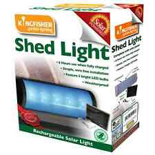 SOLAR POWERED RECHARGEABLE GARDEN SHED LOFT GARAGE CUPBOARD LED LIGHT SL1SHED