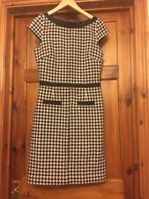 Hobbs Black & White Dress Size 8 Dog Tooth Style