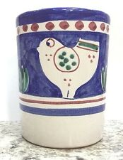 Vietri Pottery-Blue Chicken campagna-4in.tall Glass.Painted by handin Italy NEW!