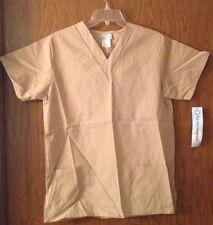 White Swan Fundamentals S V-Neck Scrub top Khaki womens tunic 14100 tan beige