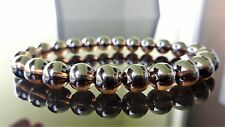 GENUINE AAA SMOKY QUARTZ CRYSTAL Bead Bracelet for Men or Women Stretch 8mm 7.5""