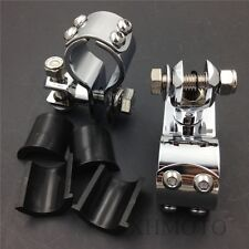 "1"" 1 1/4"" Engine Guard Footpeg Clamps for YAMAHA V-STAR XV250 Roadstar XV1700"