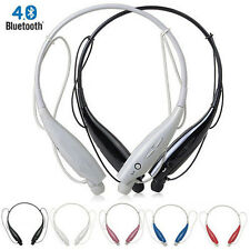 Bluetooth Wireless Headset Stereo Earbud Earphone Head phone For Samsung iPhone
