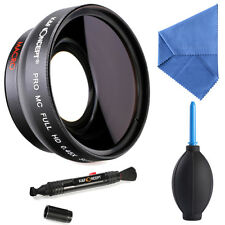 52MM HD Multi-coated 0.45x Wide Angle Lens Fisheye Macro for Canon Nikon Sony