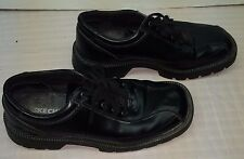 Skechers Leather Upper Oxford Men Ankle Hight Black Shoes Size 10   #S-5A