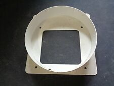 """9"""" ROUND DUCT TO A 5 1/2"""" X 5 1/8"""" SQUARE OPENING ALUMINUM"""