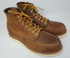 """Red Wing 8880 6"""" Brown Bourbon Yuma Leather Classic Moc Toe Boots Size 11.5 D"""