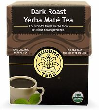 Dark Roast Yerba Mate, Buddha Teas, 18 tea bag 1 pack