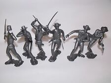 """MARX CIVIL WAR FIGURES RECAST 6"""" SIX DIFFERENT POSITIONS, SILVER IN COLOR"""