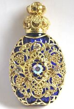 Czech Victorian Style Decorative Blue Perfume/Oil Bottle/Holder Wholesale